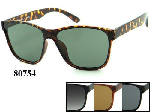 12 Pairs assorted Sunglasses - Wholesale Unisex Fashionable Plastic Wayfarer Sunglasses 80754