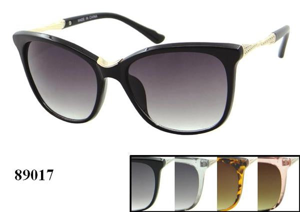 12 Pairs assorted Sunglasses - Wholesale Womens Fashionable Cat Eye Metal Design Armband Sunglasses 89017