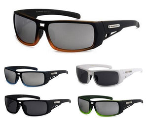 12 Pairs assorted Sunglasses - Wholesale Mens Wrap Around Biohazard Wrap Revo Lens Sunglasses 8Bz66204