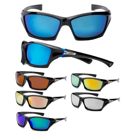 12 Pairs assorted Sunglasses - Wholesale Mens Sports Wrap Xloop Revo Lens Sunglasses 8X2366