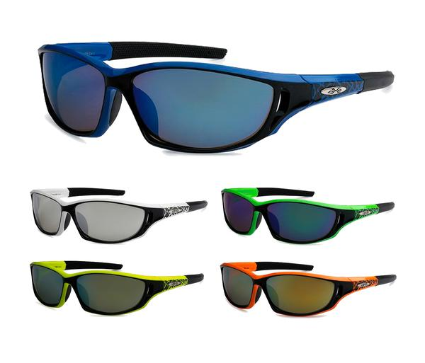 12 Pairs assorted Sunglasses - Wholesale Revo Mens Xloop Sport Wrap Fashionable Sunglasses 8X2489