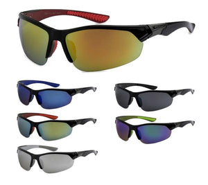 12 Pairs assorted Sunglasses - Wholesale Mens Revo Lens Plastic Sports Sunglasses 8X3611