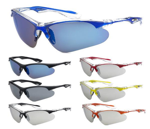 12 Pairs assorted Sunglasses - Wholesale Mens Baseball Strap Sports Revo Lens Suglasses 8X3615