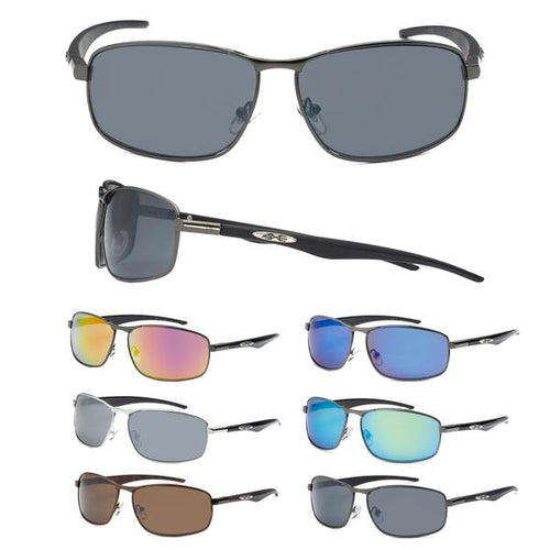 12 Pairs assorted Sunglasses - Wholesale Mens Metal Xloop Sports Revo Lens 8Xl1362