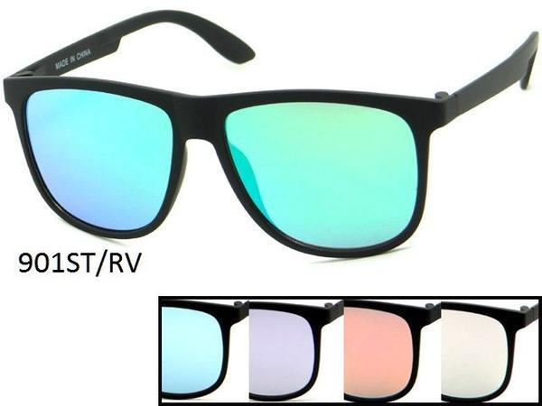 12 Pairs assorted Sunglasses - Wholesale Unisex Revo Lens Plastic Wayfarer Sunglasses 901Strv