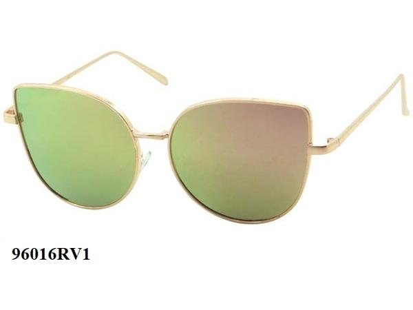12 Pairs assorted Sunglasses - Wholesale Womens Hipster Cat Eye Revo Lens Metal Sunglasses 96016Rv1
