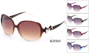 12 Pairs assorted Sunglasses - Wholesale Womens Fashionable Over Sized Lens Bow Armbands Ig9365