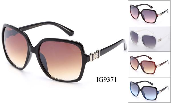 12 Pairs assorted Sunglasses - Wholesale Womens Fashionable Plastic Oversized Lens Sunglasses Ig9371