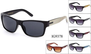 12 Pairs assorted Sunglasses - Wholesale Unisex Designer Wayfarer Metal Armbands Sunglasses Ig9378
