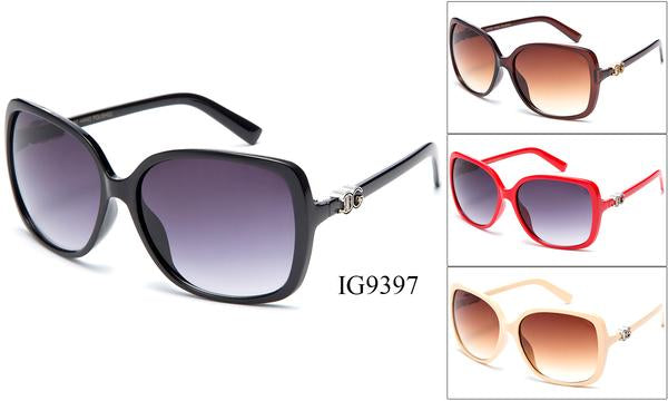12 Pairs assorted Sunglasses - Wholesale Womens Trendy Over Sized Lens Sunglasses Ig9397
