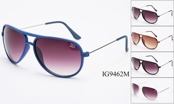 12 Pairs assorted Sunglasses - Wholesale Unisex Aviator Sunglasses Ig9462M