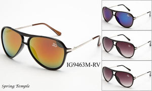 12 Pairs assorted Sunglasses - Wholesale Unisex Aviator Sunglasses Ig9463M-Rv