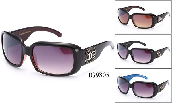 12 Pairs assorted Sunglasses - Wholesale Womens Plastic Fashion Thick Frame Sunglasses Ig9805