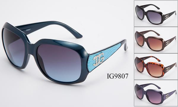 12 Pairs assorted Sunglasses - Wholesale Womens Textured Armband Big Lens Sunglasses Ig9807