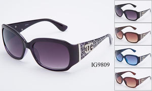 12 Pairs assorted Sunglasses - Wholesale Womens Textured Rhinestone Armband Fashionable Sunglasses Ig9809