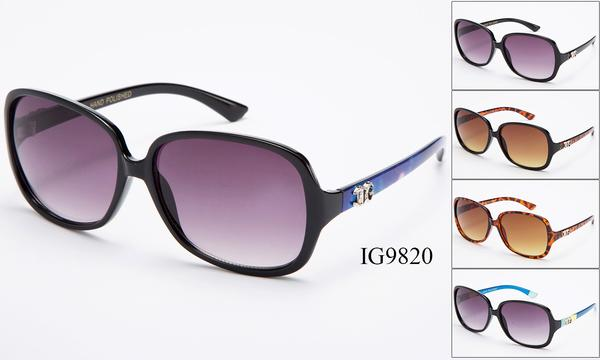 12 Pairs assorted Sunglasses - Wholesale Womens Fashion Over Sized Lens Sunglasses Ig9820