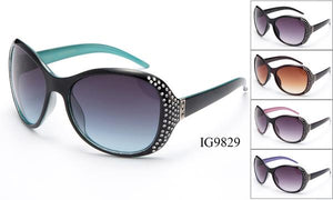 12 Pairs assorted Sunglasses - Wholesale Womens Bedazzled Fashion Sunglasses Ig9829