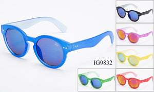 12 Pairs assorted Sunglasses - Wholesale Unisex Multi Colored Circular Revo Lens Sunglasses Ig9832