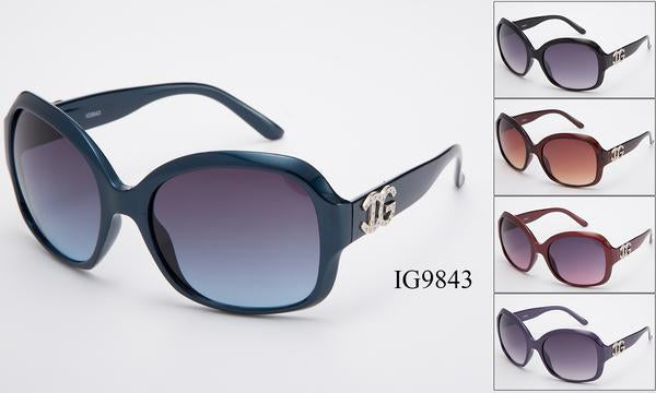 12 Pairs assorted Sunglasses - Wholesale Womens Fashionable Big Lens Sunglasses Ig9843