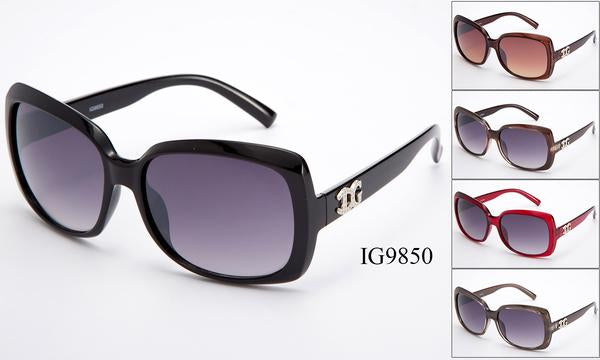 12 Pairs assorted Sunglasses - Wholesale Womens Fashion Big Lenses Squared Framed Sunglasses Ig9850