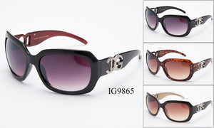 12 Pairs assorted Sunglasses - Wholesale Womens Fashion Plastic Frame Sunglasses Ig9865