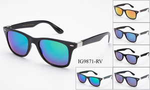 12 Pairs assorted Sunglasses - Wholesale Unisex Fashion Wayfarer Sunglasses Ig9871-Rv