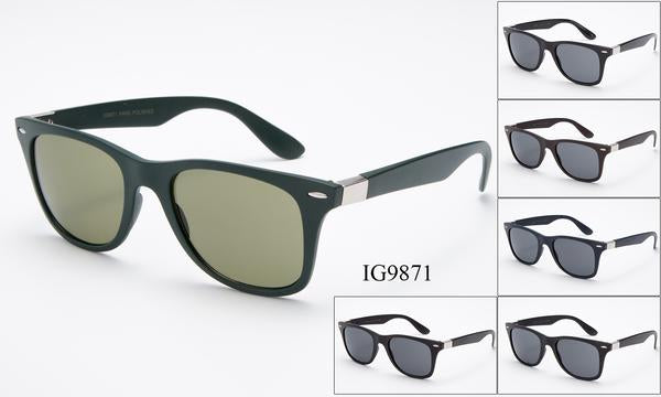 12 Pairs assorted Sunglasses - Wholesale Unisex Wayfarer Sunglasses Ig9871