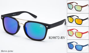 12 Pairs assorted Sunglasses - Wholesale Unisex Wayfarer Brow Bar Fashion Sunglasses Ig9872