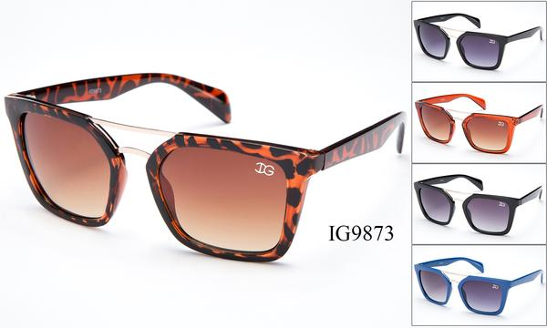 12 Pairs assorted Sunglasses - Wholesale Womens Wayfarer Fashion Brow Bar Sunglasses Ig9873