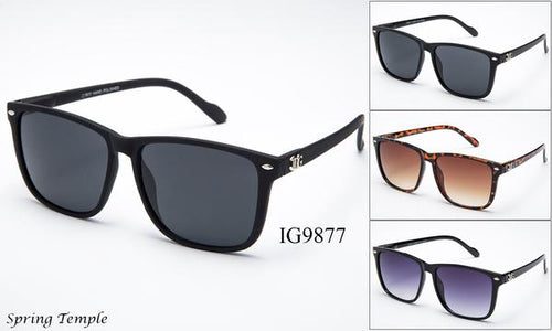 12 Pairs assorted Sunglasses - Wholesale Unisex Fashionable Over Sized Lens Wayfarer Sunglasses Ig9877