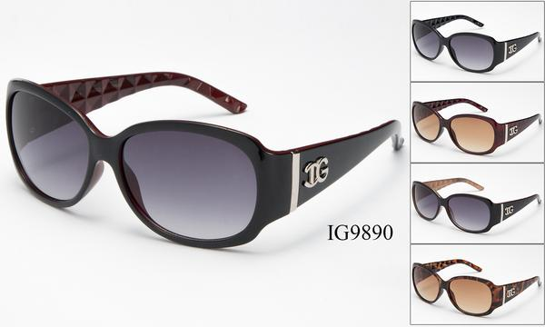 12 Pairs assorted Sunglasses - Wholesale Womens Fashion Textured Armband Plastic Sunglasses Ig9890