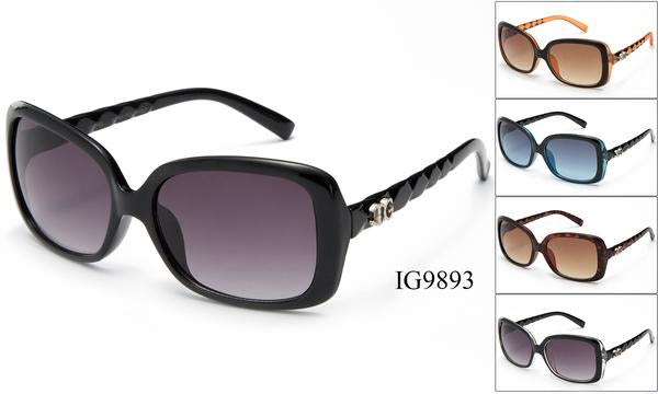 12 Pairs assorted Sunglasses - Wholesale Womens Oversized Lens Fashionable Textured Armband Sunglasses Ig9893