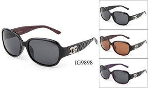 12 Pairs assorted Sunglasses - Wholesale Womens Textured Armband Fashionable Sunglasses Ig9898