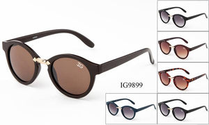 12 Pairs assorted Sunglasses - Wholesale Unisex Hipster Circle Lens Sunglasses Ig9899