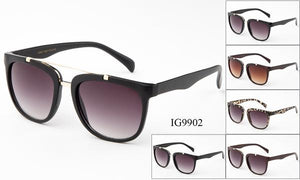 12 Pairs assorted Sunglasses - Wholesale Womens Fashionable Brow Bar Sunglasses Ig9902