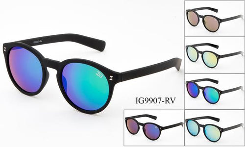 12 Pairs assorted Sunglasses - Wholesale Unisex Circle Lens Wayfarer Sunglasses Ig9907-Rv