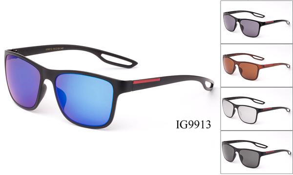 12 Pairs assorted Sunglasses - Wholesale Unisex Wayfarer Fashionable Sunglasses Ig9913
