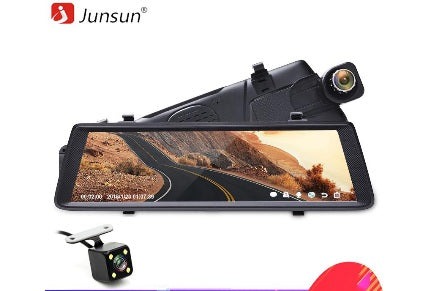 "Junsun A900C 10"" Full IPS Touch Car DVRs Recorder FHD 1080P Dual Lens Dashcam Rearview Mirror Flexible Front Camera - ZURBEXPRESS"