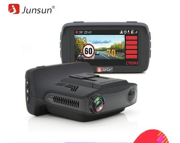 Junsun L2 Ambarella A7 Car DVR Camear Radar Detector Gps 3 in 1 LDWS HD 1080P Video Recorder Registrar Dashcam Russian Language - ZURBEXPRESS