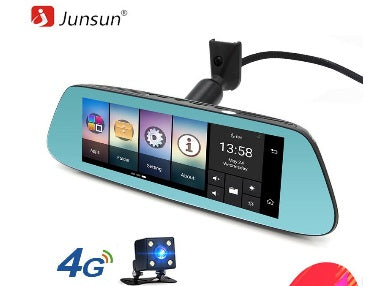 "Junsun 8"" 4G Special Mirror Car DVR Camera Android 5.1 with GPS DVRs Automobile Video Recorder Rearview Mirror Camera Dash Cam - ZURBEXPRESS"