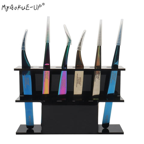 New Arrival Tweezers Storage Holder Acrylic Display Stand Eyelash Extension Makeup Tool