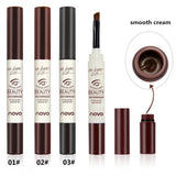 3 Color Eyebrow Cream Mascara Gel Make Up Waterproof Long-lasting Pencil Enhancer With Brush - ZURBEXPRESS