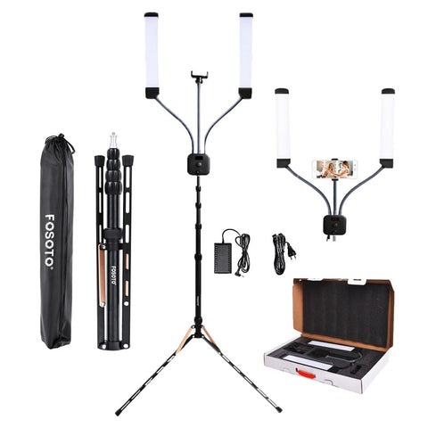 fosoto FT-450 Multimedia Extreme With Selfie Function photographic lighting 3000-6000K Led Video light Phone Camera lamp&Tripod - ZURBEXPRESS