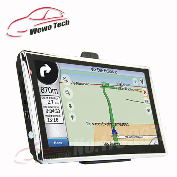 7 inch HD Car Navigator  128MB 4GB Wince6.0 800MHZ 2016 Map Russia/Belarus/Spain/ Europe/USA+Canada/Israel Gps Navigation - ZURBEXPRESS