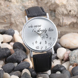 PU Leather Watch Fashion Women Wrist Watch Numbers Women Quarta dress Watch Relogio Feminino - ZURBEXPRESS