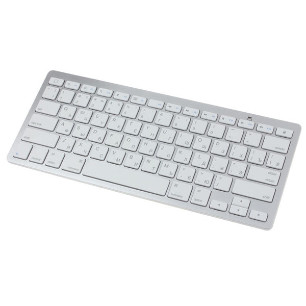High Quality Slim Mini White Bluetooth Wireless Russian Keyboard For MAC Window keyboard with Russian letters - ZURBEXPRESS