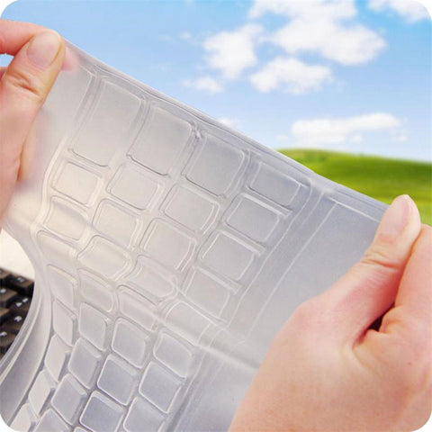 2017 Universal Wireless Silicone Keyboard Protector Stickers Desktop Computer Pad On The Keyboard Cover Skin Protector Film - ZURBEXPRESS