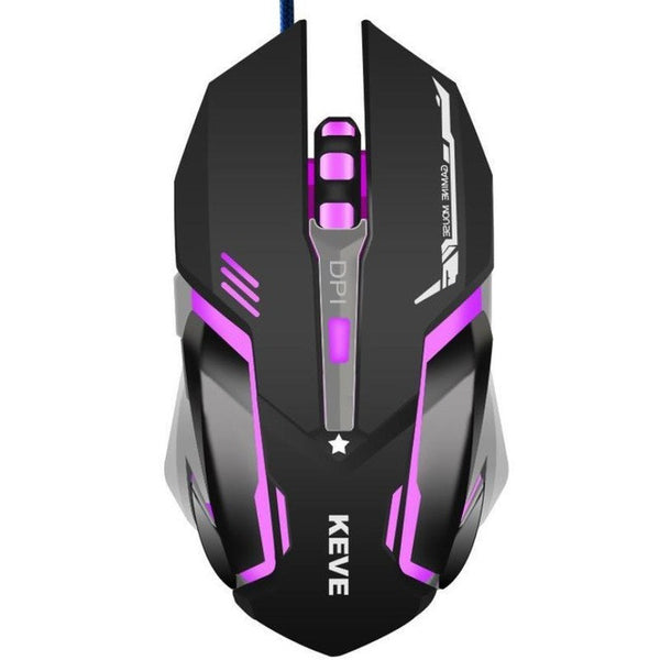 3200DPI 6D Button USB Wired Optical Game Gaming Mouse Mice PC Laptop USB Mouse For CS High-End Player Gift LED lights #201 - ZURBEXPRESS
