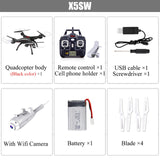 SYMA X5SW Drone with WiFi Camera Real-time Transmit FPV Quadcopter (X5C Upgrade) HD Camera Dron 2.4G 4CH RC Helicopter - ZURBEXPRESS