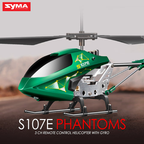 SYMA S107E Electric 3CH Gyro RC Quadcopter High Quality Colorful Flashing Lights Drones Mini Helicopter Flying Toys - ZURBEXPRESS